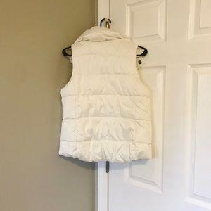 White plush old navy vest